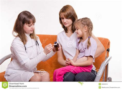 Give A Child A Home by Pediatrician Is Going To Give A Sick Child Sitting On