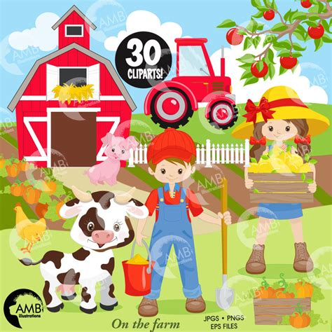 bauernhof scheune clipart farm clipart boy and farmers sheep barn