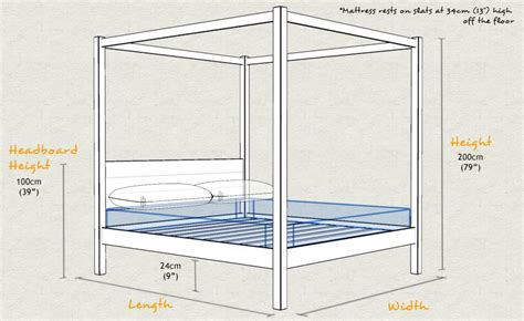 Standard Bed Frame Sizes Four Poster Bed Classic