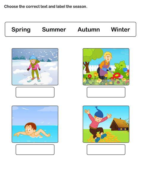 kindergarten activities on seasons seasons worksheet 4 science worksheets kindergarten
