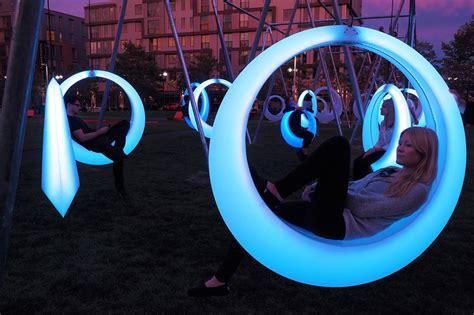 boston swings h 246 weler yoon s swing time illuminates boston park
