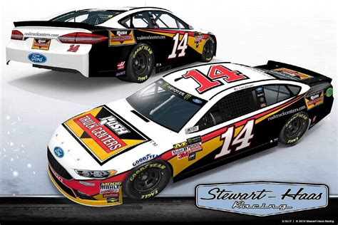2017 paint schemes 2017 nascar cup series paint schemes team 14 stewart haas racing