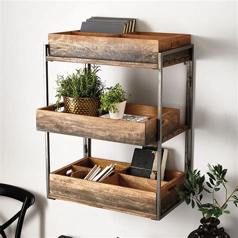 ballard designs shelves caddy shelf with 3 trays ballard designs