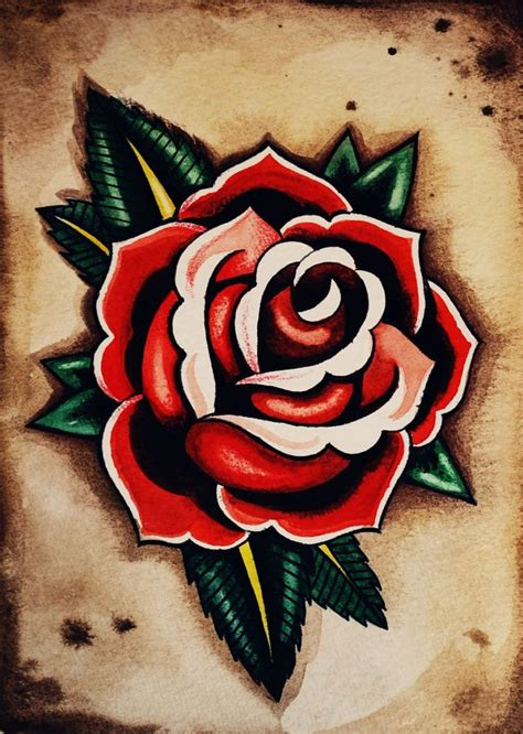old school tattoo rose 17 best ideas about school on