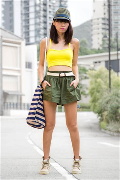 St 2pc Army Green Yellow yellow american apparel tops palladium boots army green zara hats quot canvas quot by