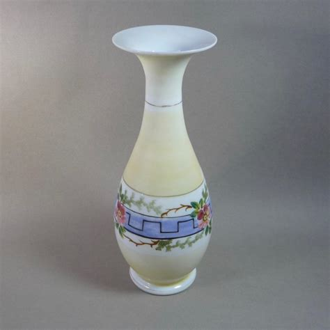 Victorian Glass Vase Victorian Hand Blown Bristol Glass Vase From