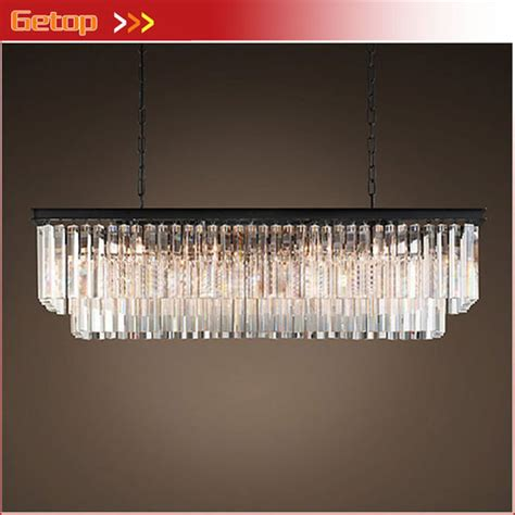 Rectangular Chandelier Dining Room Aliexpress Buy American Country Chandelier Dining Room Creative Rectangular