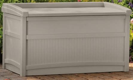 suncast outdoor storage bench suncast 50 gallon outdoor deck storage with bench