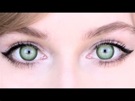 Bright Green Contacts - green circle lenses review for light