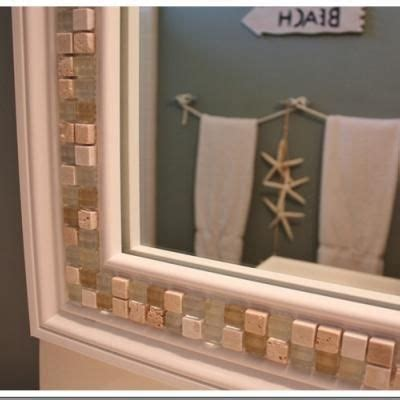 how to frame your bathroom mirror 11 best images about diy on pinterest starfish tiling