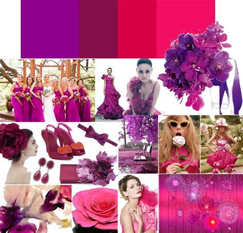 hot wedding themes hot pink and eggplant purple wedding colors onewed com