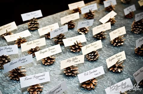 Sweet Wedding   Szyszki   dekoracje na zimowe wesele