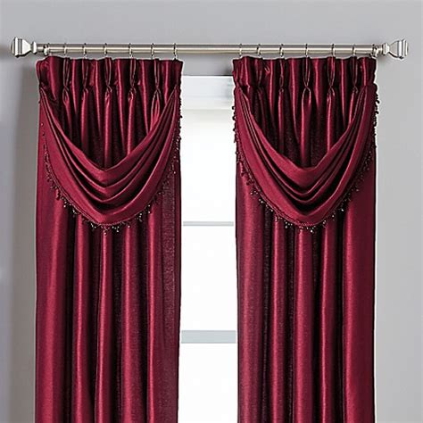 pinch pleat drapes bed bath and beyond buy spellbound pinch pleat crescent valance in bordeaux