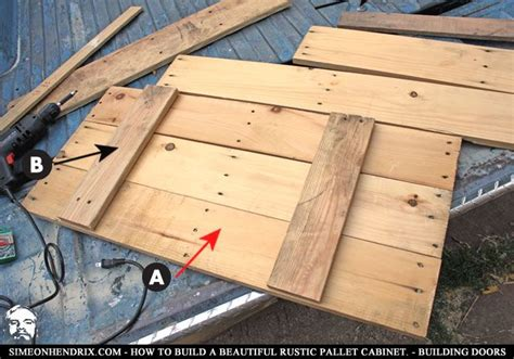 How To Make Rustic Kitchen Cabinets How To Build A Beautiful Rustic Pallet Cabinet Construction By Simeonhendrix How To