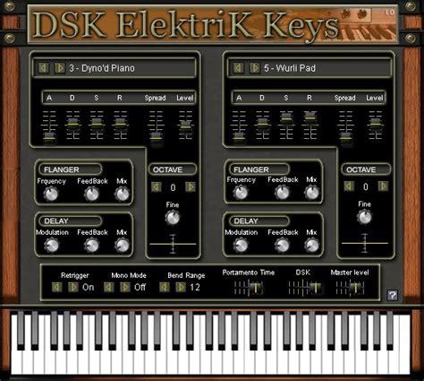 Keyboard Elektrik free vst plugins vintage keyboard dsk elektrik vst