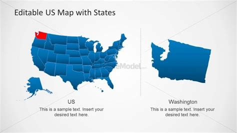 Presentation Template Of Us Map For Powerpoint Slidemodel State Of The Presentations