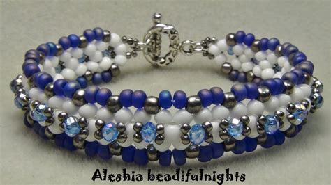 how to do bead lattice beaded bracelet tutorial