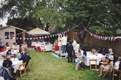 small diy backyard wedding   Tasha & Noah?s Americana