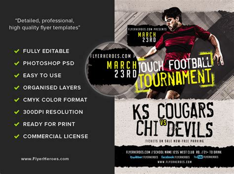 football tournament flyer template touch football tournament flyer template flyerheroes