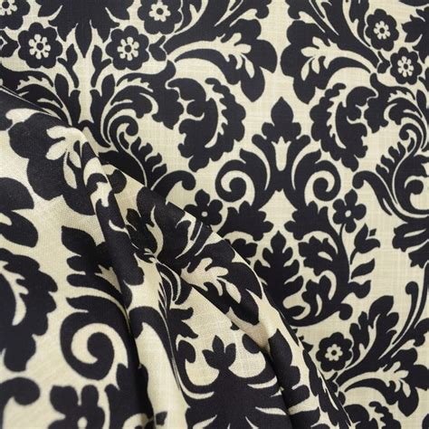 black and cream upholstery fabric waverly 669817 essence onyx black cream damask fabric