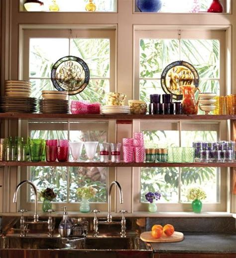 kitchen shelf decorating ideas open kitchen shelves and stationary window decorating ideas
