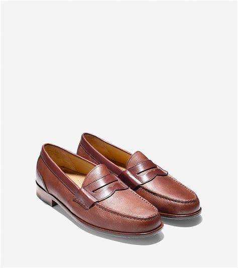cole han loafers cole haan fairmont loafer in orange for lyst