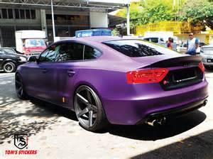 tom s stickers audi s5 matte violet purple wrap