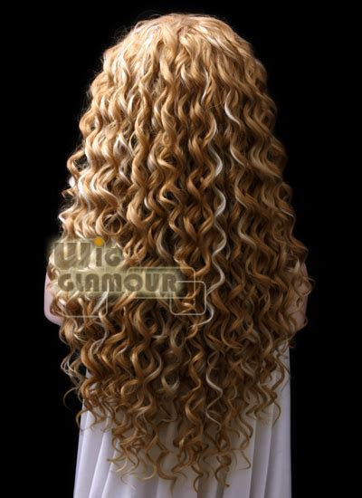 Wig Cowo Lh 034 By Wig spiral curly 26 quot brown mixed white lace front wig