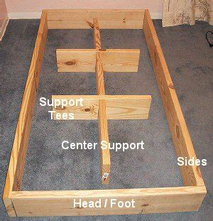 waterbed frame plans