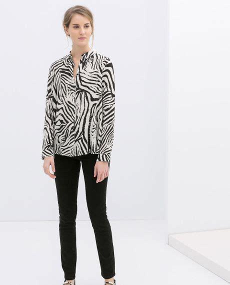 Zara Jumbo Blouse By Hana zara zebra blouse blouse with