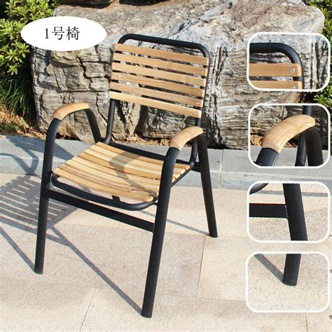 Rod Iron Patio Table And Chairs Combination Of Teak Wood Tables And Chairs Outdoor Furniture Leisure Furniture Wrought Iron