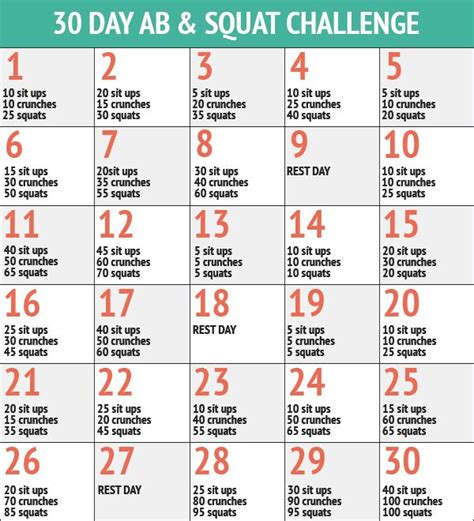 squat challenge and ab challenge 30 day ab squat challenge inspiremyworkout a
