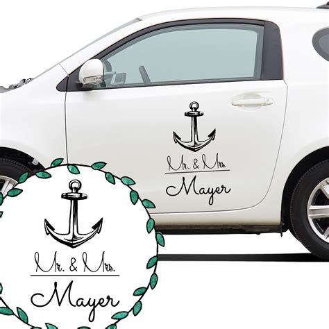 Autoaufkleber Zur Hochzeit by Autoaufkleber Autotattoo Hochzeit Maritim Mr Mrs Mit