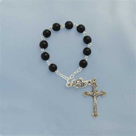 Candles For Home Decor Black Wood One Decade Finger Rosary