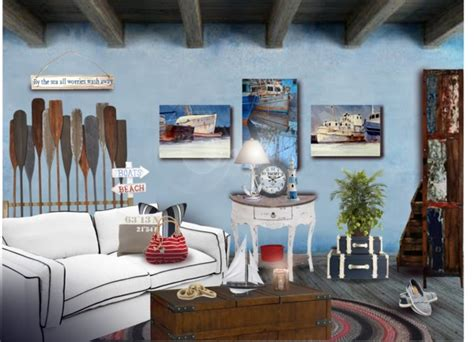 nautical theme home decorating ideas go nautical - Home Decor Theme
