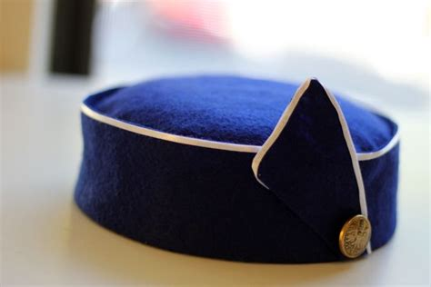 How To Make A Flight Attendant Hat Out Of Paper - hat for flight attendants airline costume ideas