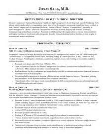 medical director resume