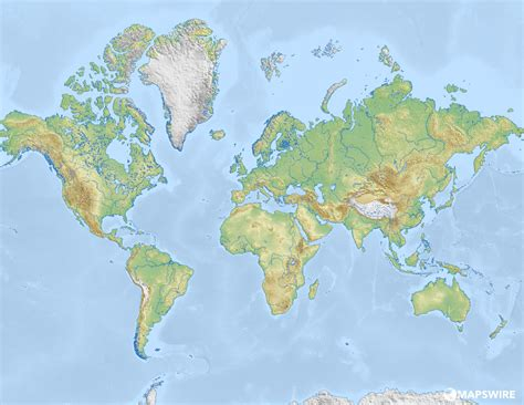 map world free physical maps of the world mapswire