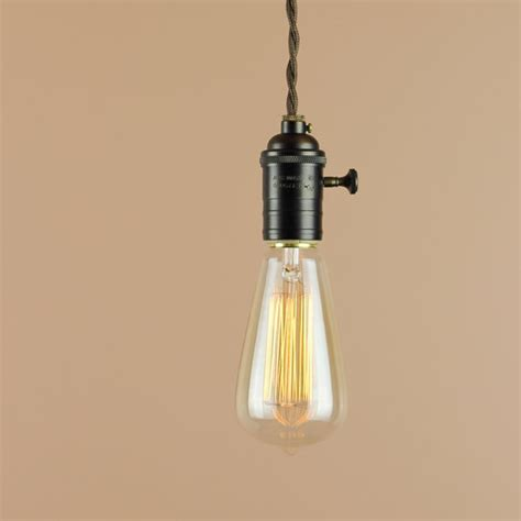 Edison Bulb Pendant Lights Items Similar To Bare Bulb Pendant Light Edison Light Bulb Antique Style Reproduction Wire