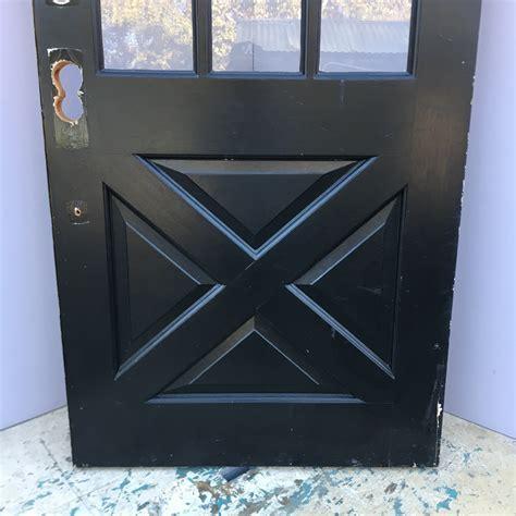 9 lite cross buck entry door
