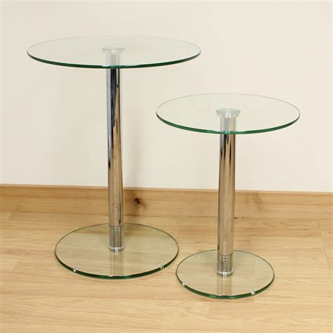 small glass accent table small glass side tables for living room side table clear