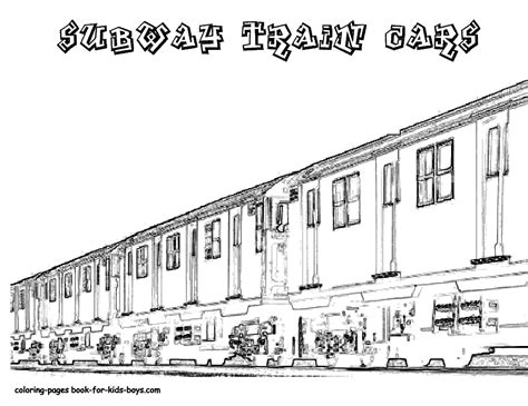 Steel Wheels Train Coloring Sheet Yescoloring Free Nyc Subway Coloring Page