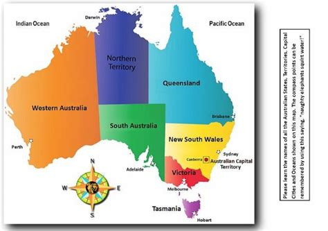 map of australia with capital cities the australian states territories and capital cities map