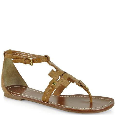 burch brown sandals burch phoebe flat sandal in brown lyst
