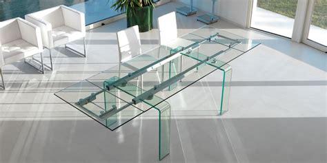 7 stück glas esszimmer set fortuny glass table by italy design kallist 233