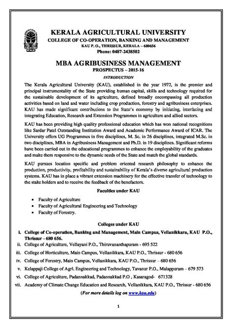 Iowa Mba Certificate by Kerala Agricultural College Of Co Operation