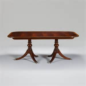 dining room pedestal tables newport banded double pedestal table traditional dining tables by ethan allen