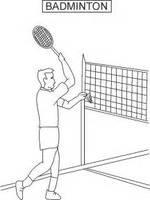 Badminton Coloring Pages 13 badminton coloring pages print color craft