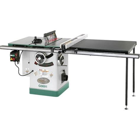 grizzly g0691 cabinet table saw with rails and riving