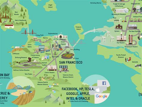 area map of bay area map for uc berkeley admissions brochure